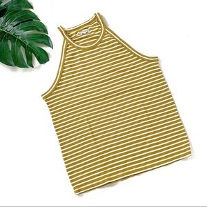 Madewell yellow striped tank top size XL